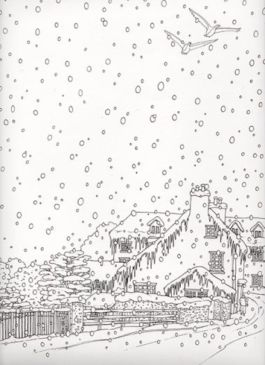 Winter wonderland colouring in for mindfulness